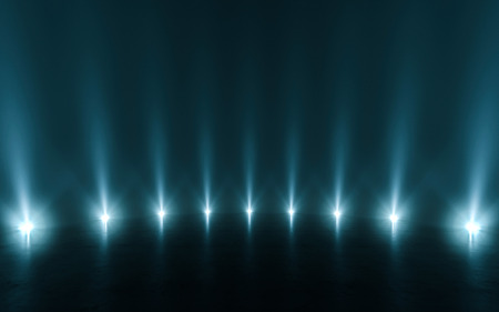 Futuristic abstract light and reflection. 3d rendering
