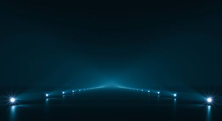 Futuristic pathway background with light illumination
