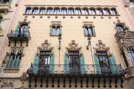 josep: BARCELONA, SPAIN - September 24, 2014: Casa Amatller 24 September, 2014 in Barcelona, Spain. Casa Amatller in 1900 by Josep Puig i Cadafalch