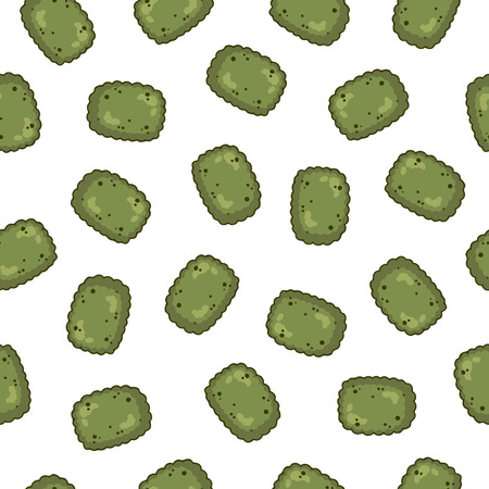 Dry pet food for dogs and cats. Vector seamless pattern. Ilustración de vector