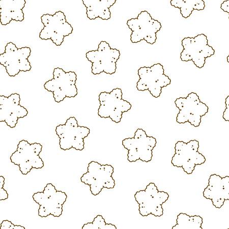 Patrón de ilustraciones vectoriales sobre el tema de nutrición comida seca para perros y gatos. Objetos aislados realistas para su diseño. Ilustración de vector