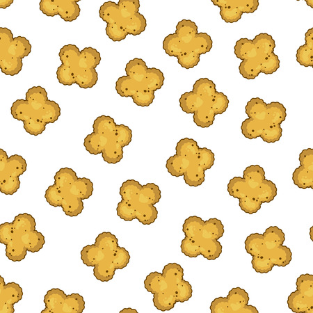 Pattern of vector illustrations on the nutrition theme dry food for cats and dogs. Realistic isolated objects for your design. Vectores