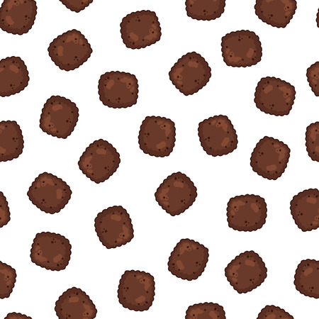 Dry pet food for dogs and cats. Vector seamless pattern.