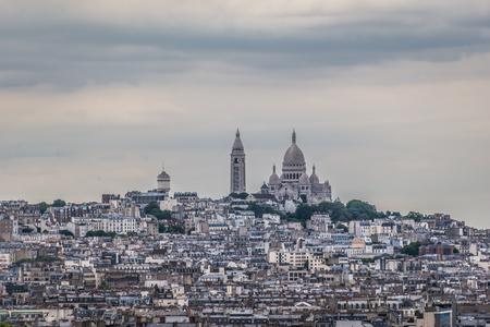 sacre: Sacre Coeur skyline paris Stock Photo