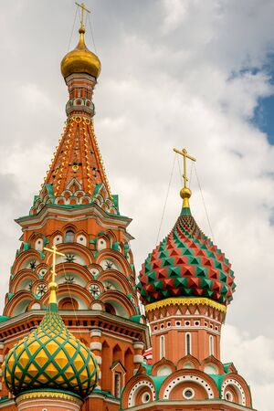 red square: St basils Cathedral in Moscow.  Close to the Red Square and the Kremlin.