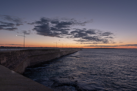 View of Breakwater during sunrise