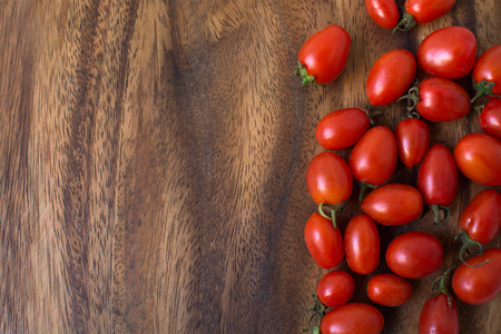 Small tomatoes for food background Foto de archivo