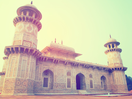 mughal architecture: Baby Taj vintage image It is in Agra India. Stock Photo