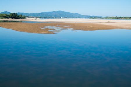 sandbank: sandbank of river in water foreground