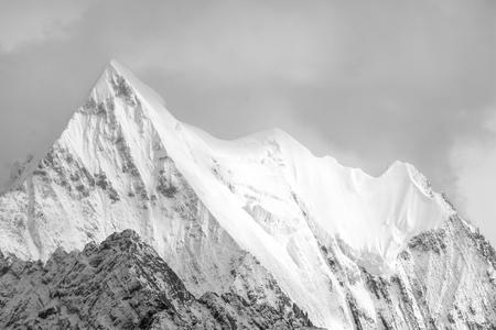 sichuan province: Mountain peak, Yading national level reserve, Daocheng, Sichuan Province, China.