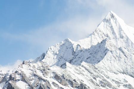 sichuan province: Mountain peak with snow, Yading national level reserve, Daocheng, Sichuan Province, China Stock Photo