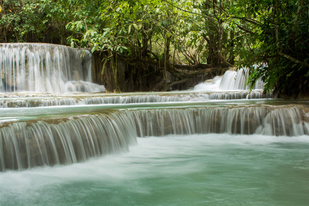 si: The Kuang Si Falls in Luang Prabang, Laos.