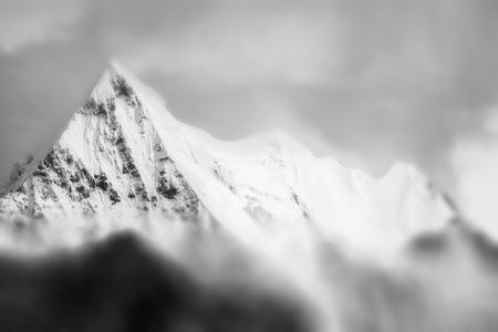 monotone: Abstract mountain peak in monotone