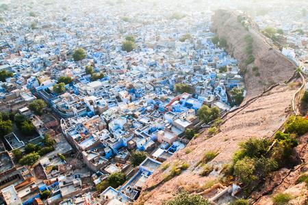 thar: Jodhpur the blue city in Thar Desert, Rajasthan State, India Stock Photo