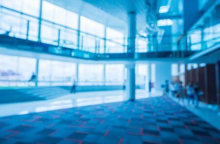 tungsten: Out of focus picture of hallway interior in tungsten white balance