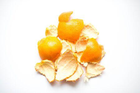 orange peel skin: Orange peel on white background