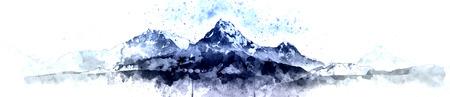 Panoramaberggebirge morgens, Himalaja in Nepal Standard-Bild - 73339039