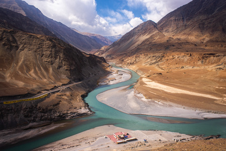 River in valley at Ladakh Region, India