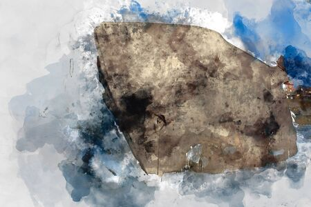 Digital abstract painting in monotone tone for background, monotone background
