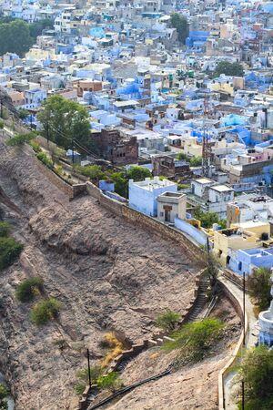 Cityscape of Jodhpur, Rajasthan State, India