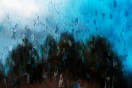 Digital abstract painting in dark tone for background, dark color background