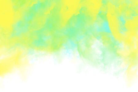 Abstract image of color powder in yellow and green shades, digital illustration Stock fotó