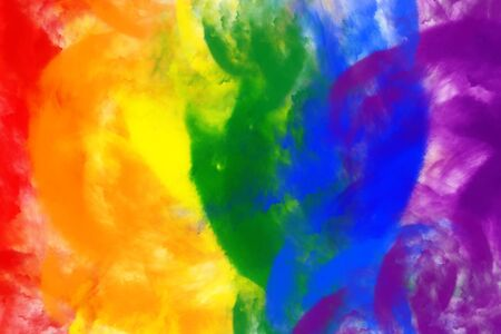 Abstract image of color powder in LGBT color, digital illustration
