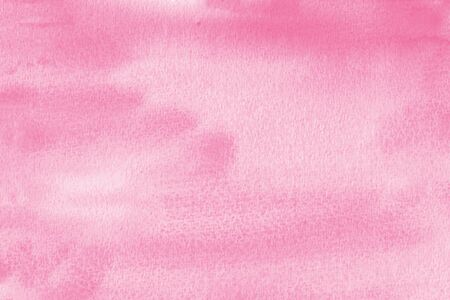 Watercolor texture on paper in pink color for background