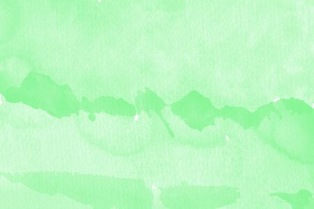 Watercolor texture on paper in green color for background Stock fotó