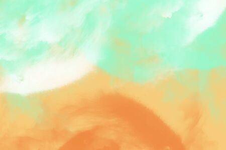 Abstract image of sea and sand beach in aqua menthe color tone for background, digital illustration