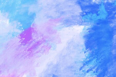 Abstract image of color powder in blue, white and purple color, digital illustration