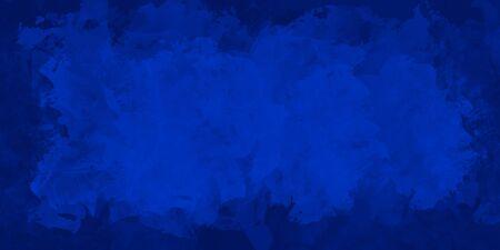 Watercolor painting in dark blue tones, digital art illustration for background