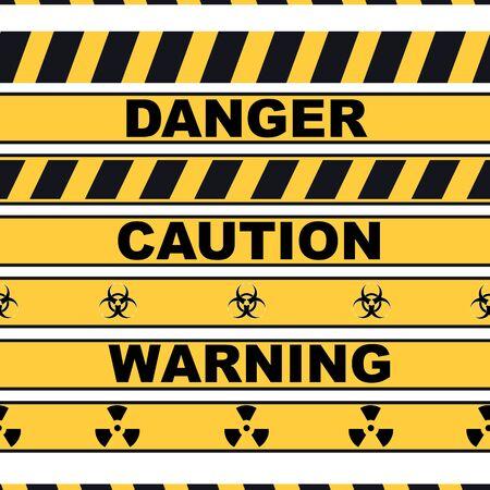 Warning lines set, vector illustration