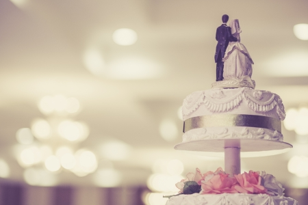 weddings: Vintage wedding cake Stock Photo