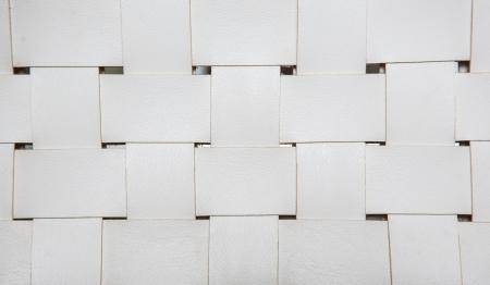 Closeup auf Weiß Ledersessel Textur