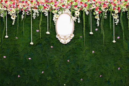 Beautiful flower wedding decoration photo