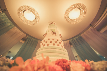 Vintage Wedding cake, Process with filter photo