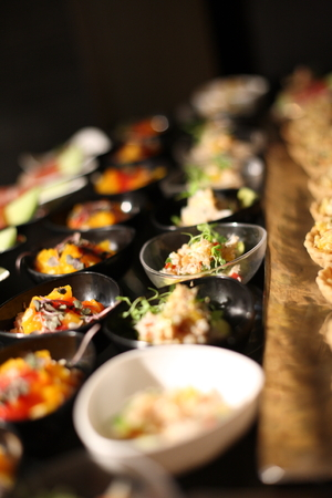 various delicious of appetizer, Very small depth of field photo