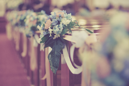 Very small depth of field,Bouqest Wedding Decorate Stock Photo - 27363781