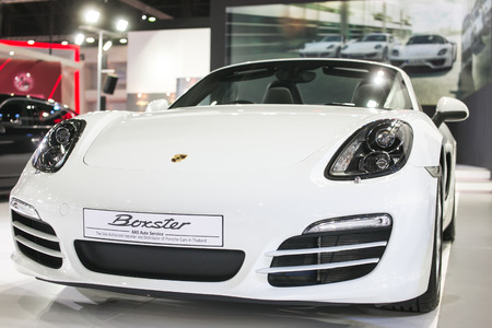 gt3: Bangkok -March 27 : All new white Porsche GT3  at The 35th Bangkok International Motor Show, Concept Beauty in the Drive on March 27, 2014 in Bangkok, Thailand
