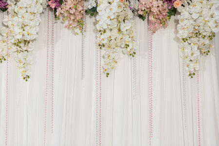 christian marriage: Beautiful flower wedding decoration Stock Photo