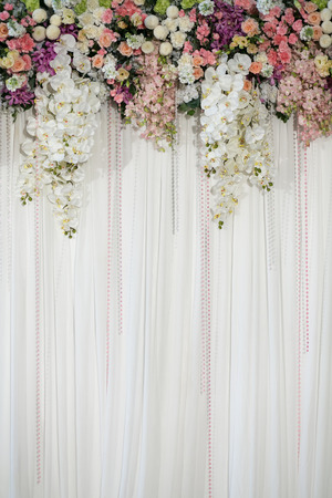 Beautiful flower wedding decoration photo