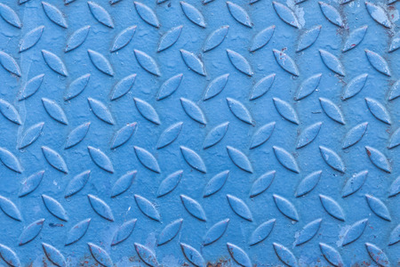 aslant: pattern or background or texture of an old blue rusty steel Stock Photo