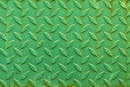 yaw: pattern or  texture of an old green rusty steel