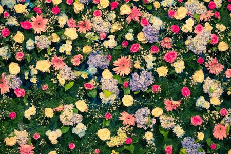 Background of Beautiful flower wedding decoration photo