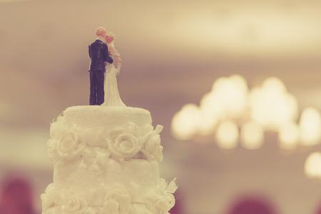 groom: Top of Cake for wedding ceremony Stock Photo