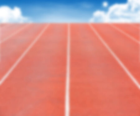 sprightly: Defocused Running track with sky cloud can be use for background