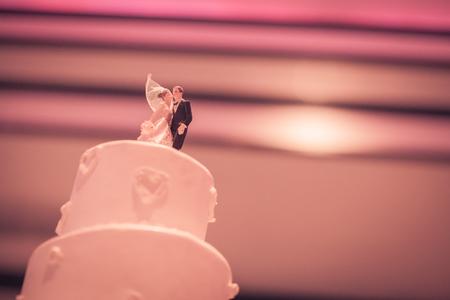 romance vingate cake for wedding celebration photo