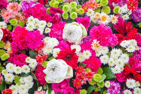 bunch of flowers: Bouquets flower, Colorful background bunch flowers Stock Photo
