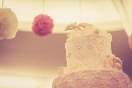 wedding celebration: Beautiful vintage cake for wedding reception
